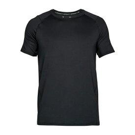 メール便送料無料 アンダーアーマー 【3】半袖機能Tシャツ 1306428-001 ブラック ショートスリーブ 背面ベンチレーション(メッシュ)