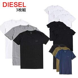 送料無料 ディーゼル Tシャツ 半袖 丸首 3枚セット 00SPDG 0AALW UMTEE-JAKE 3Pack 【41-44】 あす楽 対応