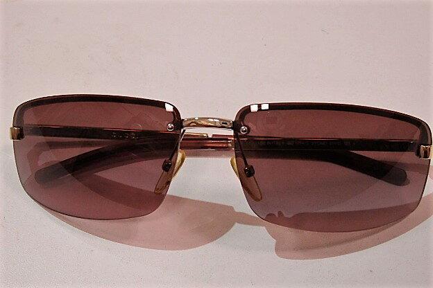 グッチ GUCCI サングラス GG 1794/S 3YG/MD ピンク ブラウン グラデーション シャンパンゴールド ハーフリム ロゴ メタル フレーム プラスチック 縁なし メガネ 眼鏡 アイウェア アクセサリー 小物 でかサン メンズ レディース 【中古】 bc833