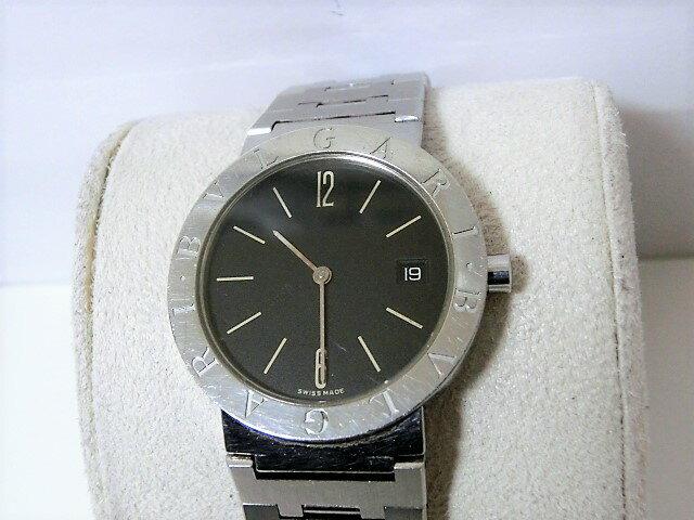 ブルガリ ブルガリブルガリ BB33SSD メンズ 腕時計 デイト SS クォーツ ブラック文字盤 BVLGARI☆ 【中古】 【送料無料】 mk1583