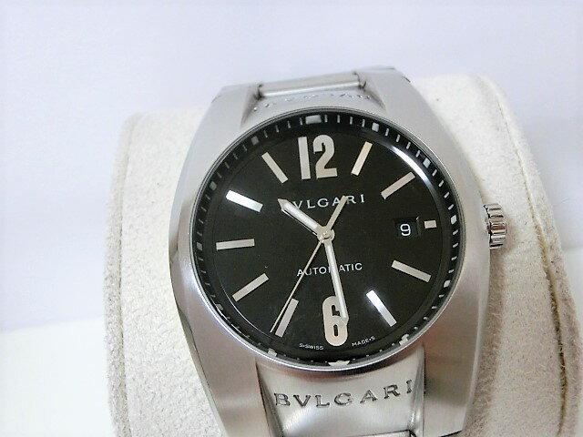 ブルガリ エルゴン EG40S メンズ 腕時計 デイト SS 自動巻き ブラック文字盤 BVLGARI 【中古】 【送料無料】 mk1611