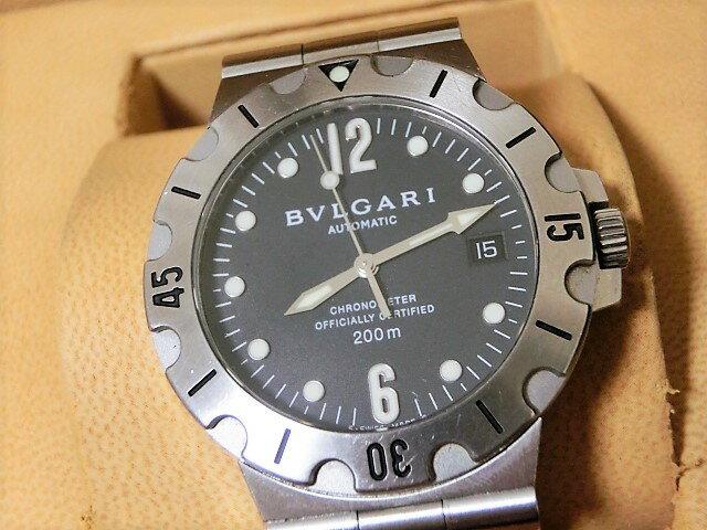 ブルガリ ディアゴノ スクーバ SD38S メンズ 腕時計 200m防水 デイト クロノメーター SS 自動巻き BVLGARI☆ 【中古】 【送料無料】 mk1645