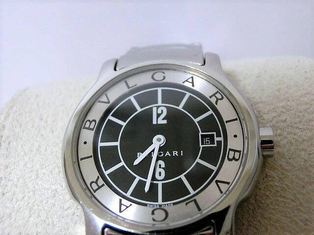 ブルガリ ST29BSSD ソロテンポ レディース 腕時計 デイト SS クォーツ ブラック文字盤 BVLGARI 【中古】 【送料無料】 mk1775