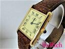 カルティエ マストタンク SM レディース 腕時計 SV925/レザー クォーツ QZ アイボリー文字盤 Cartier 【中古】 【送料…