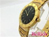 ブルガリブルガリブルガリBB30GGDK18YG金無垢750レディース腕時計ブラック文字盤クォーツQZBVLGARI【中古】【送料無料】bt1557