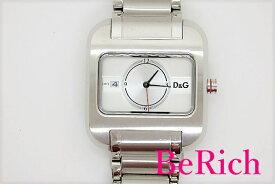 ドルチェ & ガッパーナ Dolce & Gabbana D&G TIME メンズ 腕時計 デイト シルバー 文字盤 SS ブレス ロゴ ドルガバ アナログ クォーツ QZ ウォッチ 【中古】 bt1576
