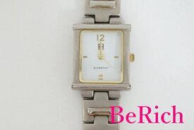 ジバンシィ GIVENCHY レディース 腕時計 スクエア 白 ホワイト 文字盤 SS ブレス アナログ クォーツ ウォッチ 【中古】【送料無料】 bt1921