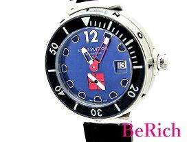 ルイ ヴィトン Q103F タンブール ダイビング 300m防水 デイト メンズ 腕時計 自動巻き AT SS/ラバー ブルー文字盤 LOUISVUITTON 【中古】【送料無料】 mk2356