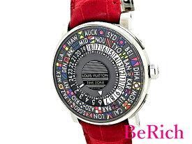 美品 ルイ ヴィトン Q5D20 エスカルタイムゾーン 50m防水 メンズ 腕時計 自動巻き AT SS/レザー LOUISVUITTON 【中古】【送料無料】 mk2361