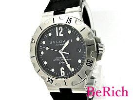 OH済 ブルガリ ディアゴノ スクーバ SD38S メンズ 腕時計 200m防水 デイト クロノメーター SS/ラバー 自動巻き AT BVLGARI 【中古】【送料無料】 sb396