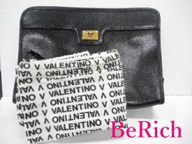 マリオ バレンチノ セカンドバッグ 黒 ブラック レザー クラッチバッグ ビジネス MARIO VALENTINO 【中古】【送料無料】 sh259