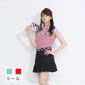 【選べる5サイズ】ボーダーカラーフレンチスリーブポロシャツ S M XL LL 2L 3L 21986