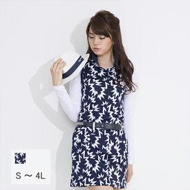 【選べる6サイズ】雷柄ノースリーブポロシャツ 21998 S M L 2L XL LL 3L 4L