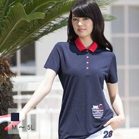 【選べる6サイズ】ポケットワッペンの半袖ポロシャツ M L 2L XL LL 3L 4L 5L