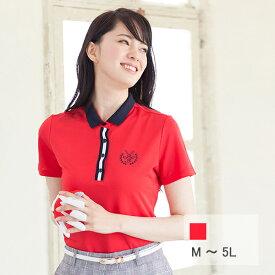 【選べる6サイズ♪】胸元刺繍の半袖ポロシャツ M L 2L XL LL 3L 4L 5L
