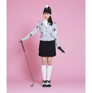 レディースゴルフウェアスカート裾切替えプリーツスカートレディースゴルフフリルスカート