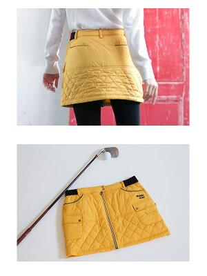 レディースゴルフウェア前ジッパーキルティングスカートレディースゴルフスカート