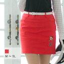 【選べる6サイズ】 ポケットワッペンのタイトスカート M L 2L XL LL 3L 4L 5L