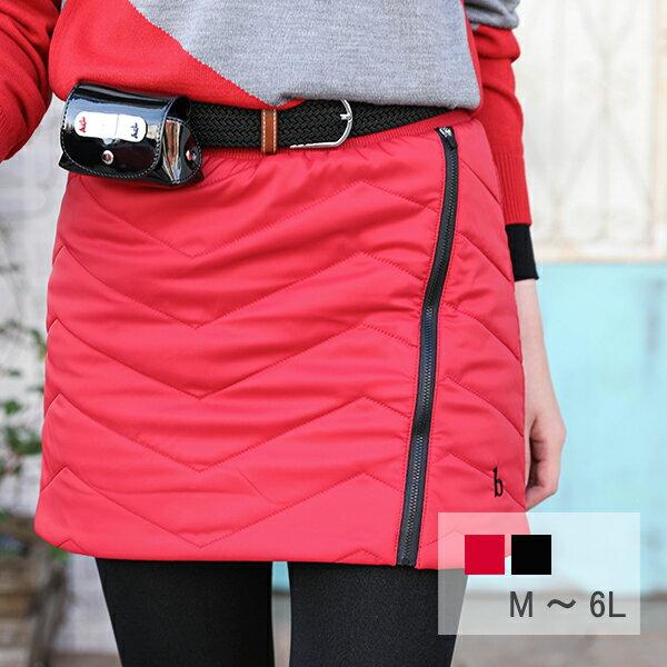 ゴルフウェア レディース スカート ジッパーライン キルティングスカート M L 2L(LL XL) 3L 4L 5L 6L 大きいサイズ インナー パンツ