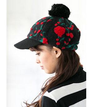 レディースゴルフウェアボンボン付きニット帽レディースゴルフニット帽