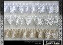 ◆ ラッセルレース◆お花柄 フリル*2.5m巻き*ra13 白・オフ白・ベージュの3色より