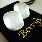 【Berry'sベリーズ】真鍮プレートピアス/プレートピアス/サークルピアス/アクセサリー/シルバー/銀/モード【SELECT】