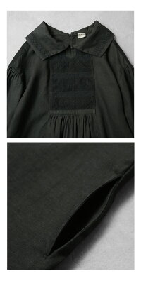 【送料無料】JoiedeVivreサフィランリネンボンヌカリテエンブロイダリーアンティークドレス