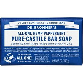 ドクターブロナー Dr.Bronner's マジックソープ バー ペパーミント 140g (並行輸入品) 【あす楽】