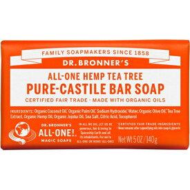 ドクターブロナー Dr.Bronner's マジックソープ バー ティーツリー 140g (並行輸入品) 【あす楽】