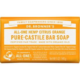 ドクターブロナー Dr.Bronner's マジックソープ バー シトラスオレンジ 140g (正規輸入品) 【あす楽】