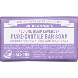 ドクターブロナー Dr.Bronner's マジックソープ バー ラベンダー 140g (並行輸入品) 【あす楽】