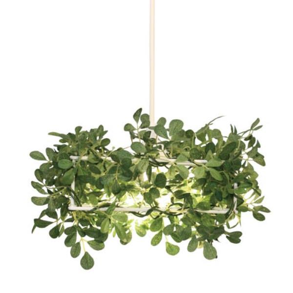 ペンダントランプ LEDアローロ|DI CLASSE ディクラッセ 照明 天井照明 シャンデリア シーリングライト デザイナーズ ナチュラル クラシック モダン シンプル グリーン 葉っぱ 造花 アーティフィシャルグリーン