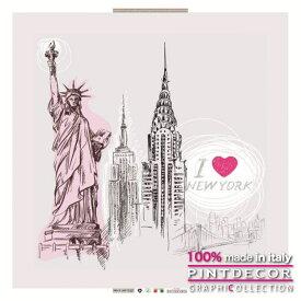 デコレーションパネル PINTDECOR グラフィコレクション I LOVE NEW YORK G1240|ピントデコール イタリア アートパネル ウォールデコ ペインティング 絵画 リビング インテリア デザイン モダン ホテルライク 新居 イタリア直輸入