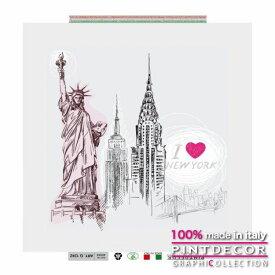 デコレーションパネル PINTDECOR グラフィコレクション I LOVE NEW YORK G1242|ピントデコール イタリア アートパネル ウォールデコ ペインティング 絵画 リビング インテリア デザイン モダン ホテルライク 新居 イタリア直輸入