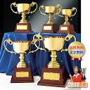 優勝カップ A 送料無料 レーザー文字無料 高さ425mm 20%OFF ゴールド 金色 優勝カップ トロフィーカップ ゴルフ …