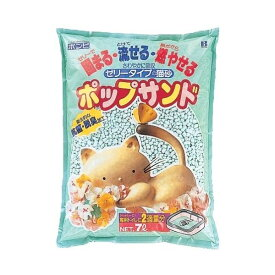 ボンビアルコンポップサンド 7L【流せる砂、猫砂、10リットル】