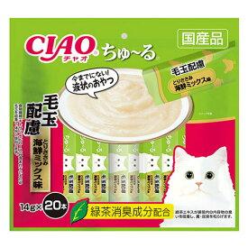 いなばCIAO ちゃおちゅーる 毛玉配慮 とりささみ 海鮮ミックス味 (14g×20本)SC-262【チャオちゅーる、ちゃおちゅーる、チャオチュール、猫用おやつ、SC262、とりささみ&海鮮ミックス】
