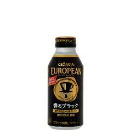 [送料無料]コカ・コーラジョージアヨーロピアン香るブラック 400mlボトル缶 24本【コカコーラ、Coca-Cola、飲料水、GEORGIA、珈琲、コーヒー】