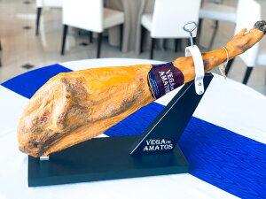 ハモンイベリコ豚生ハム 原木 約9Kg不定貫生ハム スペイン産 パーティー 高級品 美味しい ※専用台、ナイフ付き。