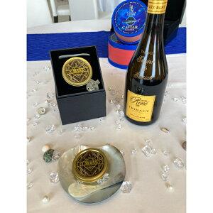 ミシュラン星付きレストランも採用【最高級 フレッシュキャビア】 ベルーガ 30g缶 、フランス産トリボー社、高級シャンパン、キュヴェ・ルネ750mlの20セット限定お試しセット。プレゼント
