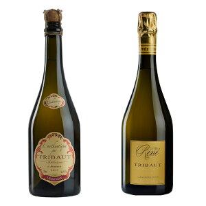 フランス、トリボー社最高級シャンパン、オーセンティック&キュヴェ・ルネ、各750mlセット。トリボー最高級品の2本セット!!シャンパン プレゼント 高級シャンパン シャンパーニュ