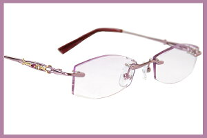 llcrystal0007-6003pur[ベストワンオンラインショップ][おしゃれな眼鏡][通販メガネ][老眼鏡][乱視対応][シニアグラス][遠近両用] 可能
