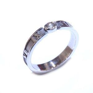 TIFFANY&CO(ティファニー) アトラス1PDリング 指輪 6.5号 K18WG(750)ホワイトゴールド×ダイヤモンド ランクA