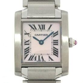 【特価商品】Cartier(カルティエ)/タンクフランセーズSM ピンクシェル レディース 腕時計 ウォッチ/クオーツ//ステンレススチール(SS)×シェル/【ランクA】【中古】