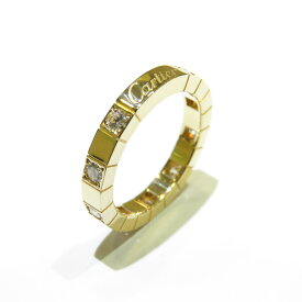 【特価商品】Cartier(カルティエ)/ラニエール ハーフダイヤ リング 指輪/リング//K18YG(750)イエローゴールド×ダイヤモンド/【ランクA】/#49/9号【中古】