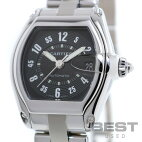 【仮】カルティエ【CARTIER】ロードスターLMW62004V3メンズブラックステンレススティール腕時計時計ROADSTERLMBLACKSS【中古】