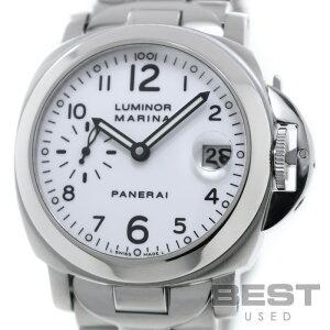 【仮】パネライ【PANERAI】ルミノールマリーナPAM00051(OP6529)メンズホワイトステンレススティール腕時計時計LUMINORMARINAWHITESS【中古】