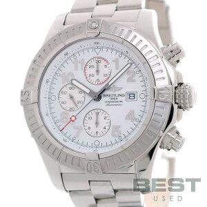 【仮】ブライトリング【BREITLING】スーパーアベンジャーA13370(A337A62PRS)メンズホワイトステンレススティール腕時計時計SUPERAVENGERWHITESS【中古】