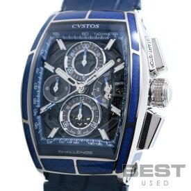 【期間限定!最大2,000円OFFクーポン配布中】クストス 【CVSTOS】 チャレンジ2 クロノ CVT-CHR-CARBON-BLUE メンズ スケルトン ステンレススティール 腕時計 時計 CHALLENGE2 CHRONO SLKELTON(BLACK) SS 【中古】【中古】