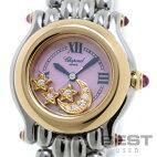 【仮】ショパール【CHOPARD】ハッピースポーツS27/8246-42レディースピンクシェルK18イエローゴールド/ステンレススティール腕時計時計HAPPYSPORTPINKSHELLK18YG/SS【中古】